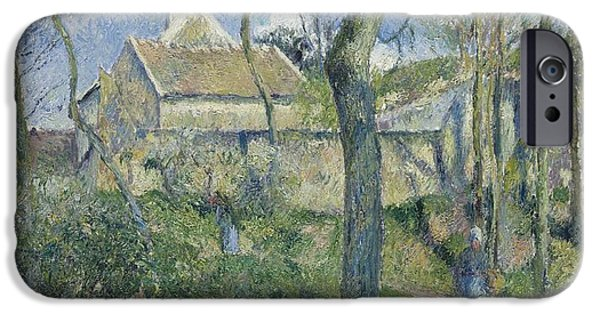 Pissarro iPhone Cases - The Path to Les Pouilleux iPhone Case by Celestial Images