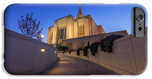 Saint Hope iPhone Cases - The Path to Ogden Temple iPhone Case by Dustin  LeFevre