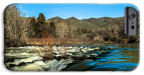 River Flooding iPhone Cases - The Payette River iPhone Case by Robert Bales
