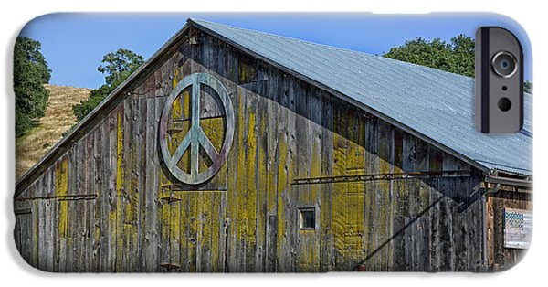 Santa Cruz Art iPhone Cases - The Peace Barn iPhone Case by Mountain Dreams