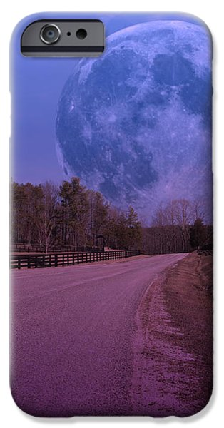 The Peace Moon  iPhone Case by Betsy A  Cutler