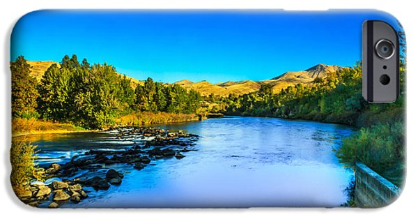 Silk Water iPhone Cases - The Peaceful and Beautiful Payette River iPhone Case by Robert Bales
