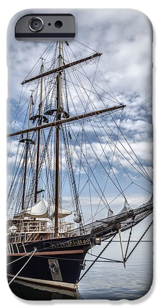 Pirate Ship iPhone Cases - The Peacemaker Tall Ship iPhone Case by Dale Kincaid