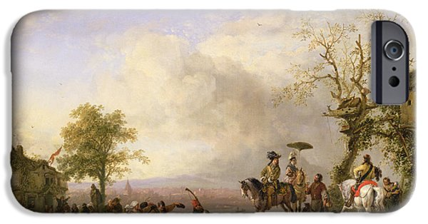 Celebration Photographs iPhone Cases - The Peasant Wedding Oil On Canvas iPhone Case by Fritz van der Venne