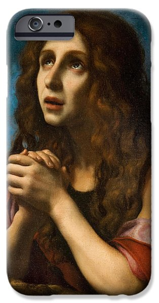 Bone iPhone Cases - The Penitent Magdalen iPhone Case by Carlo Dolci