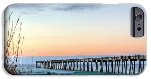 Florida Panhandle iPhone Cases - The Pensacola Beach Pier iPhone Case by JC Findley