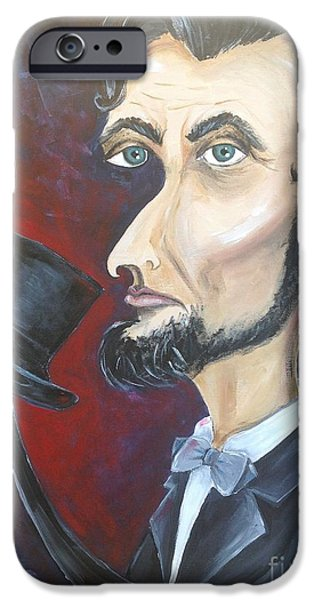 Civil Liberties Paintings iPhone Cases - No Slavery  iPhone Case by Sylvia Perez