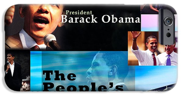 Michelle Obama Photographs iPhone Cases - The Peoples President Still iPhone Case by Terry Wallace