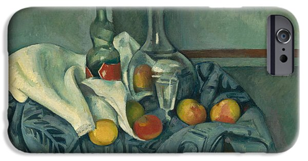 Best Sellers -  - Table Wine iPhone Cases - The Peppermint Bottle iPhone Case by Paul Cezanne