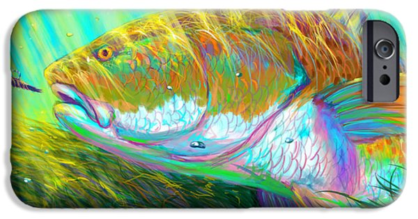 Redfish iPhone Cases - The perfect fly for the perfect moment  iPhone Case by Yusniel Santos