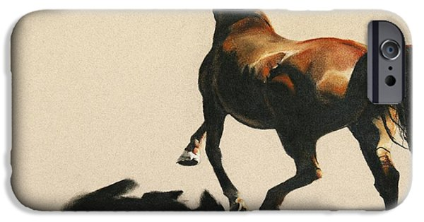 The Horse Pastels iPhone Cases - The Perfect Storm iPhone Case by Shaila Yovan Tenorio