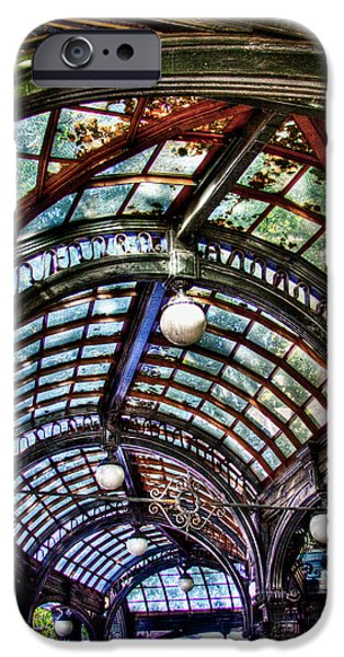 David Patterson iPhone Cases - The Pergola Ceiling in Pioneer Square iPhone Case by David Patterson
