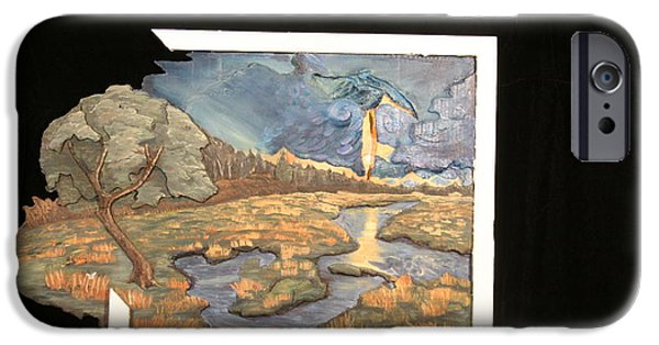 Impressionism Reliefs iPhone Cases - The Persistance of Reality iPhone Case by Desiree Senti