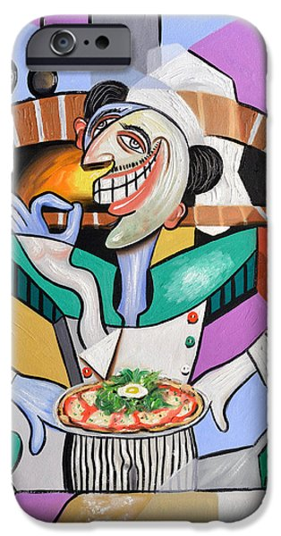 Size iPhone Cases - The Personal Size Gourmet Pizza iPhone Case by Anthony Falbo