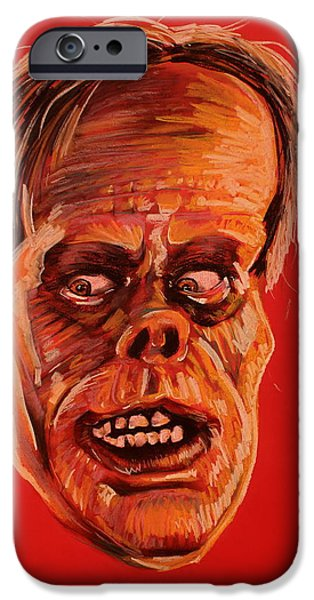 Haunted House Pastels iPhone Cases - The Phantom of the Opera iPhone Case by Brent Andrew Doty