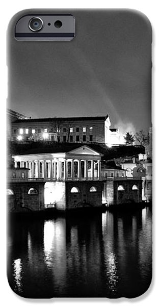 The Philadelphia Waterworks in Black and White iPhone Case by Bill Cannon