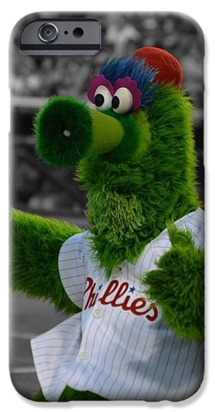 Phillie iPhone Cases - The Phillie Phanatic iPhone Case by David Ziegler