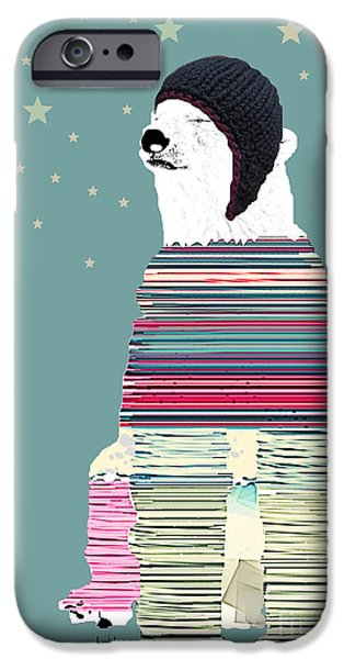 Thinking Mixed Media iPhone Cases - The Philosopher  iPhone Case by Bri Buckley