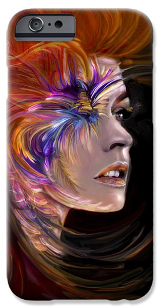Recently Sold -  - Abstract Digital Mixed Media iPhone Cases - THE PHOENIX  fire flames and rebirth iPhone Case by Jaimy Mokos