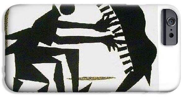 Piano Tapestries - Textiles iPhone Cases - The Pianist iPhone Case by Ruth Yvonne Ash