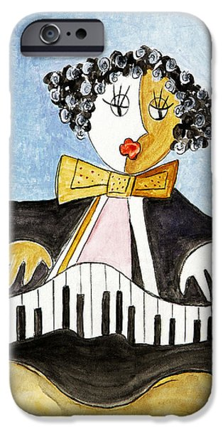 Piano Pastels iPhone Cases - The Pianist iPhone Case by Selke Boris