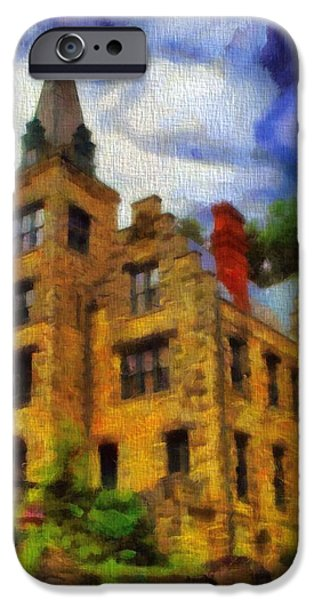Buildings Mixed Media iPhone Cases - The Piatt Castle iPhone Case by Dan Sproul