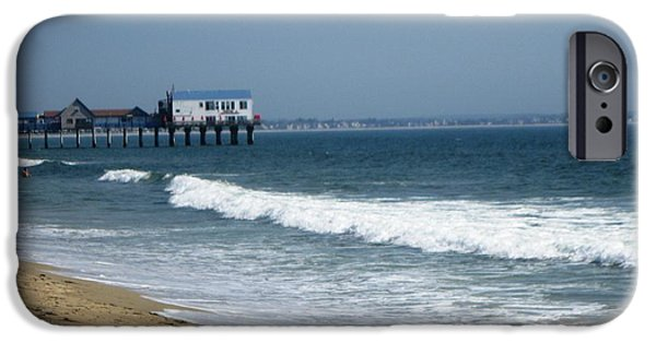 Beach Ceramics iPhone Cases - The Pier at OOB iPhone Case by Brenda Burns