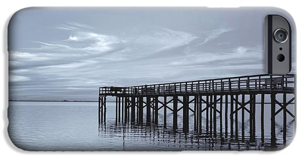 Kim Photographs iPhone Cases - The Pier iPhone Case by Kim Hojnacki