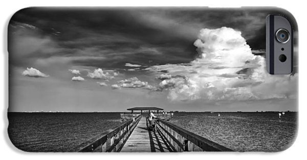 Stormy Weather iPhone Cases - The Pier iPhone Case by Marvin Spates