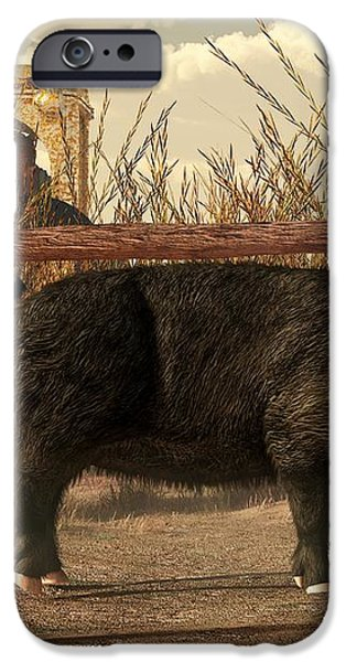 The Pig and the Hare iPhone Case by Daniel Eskridge