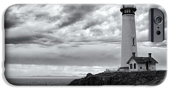 Warner Park iPhone Cases - The Pigeon Point Beacon iPhone Case by Eduard Moldoveanu