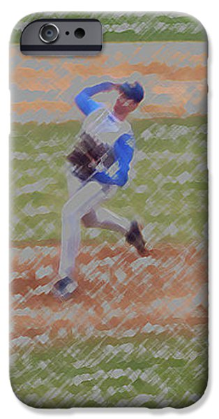 The Pitcher Digital Art iPhone Case by Thomas Woolworth