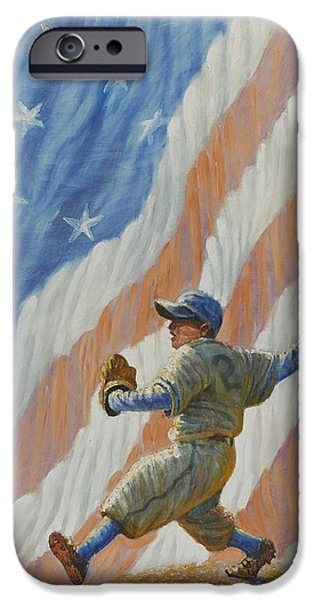 U.s.a. iPhone Cases - The Pitcher iPhone Case by Gregory Perillo