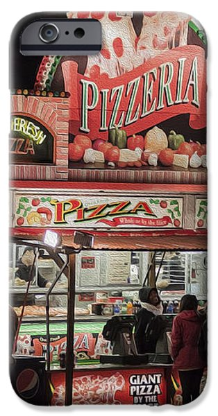 The Pizzeria in Neon iPhone Case by Janice Rae Pariza