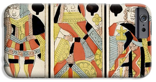 Queen Of Hearts iPhone Cases - The Players Club iPhone Case by Jon Neidert