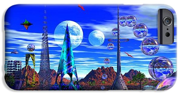 Moonscape iPhone Cases - The Plerks of Plark iPhone Case by Mark Blauhoefer