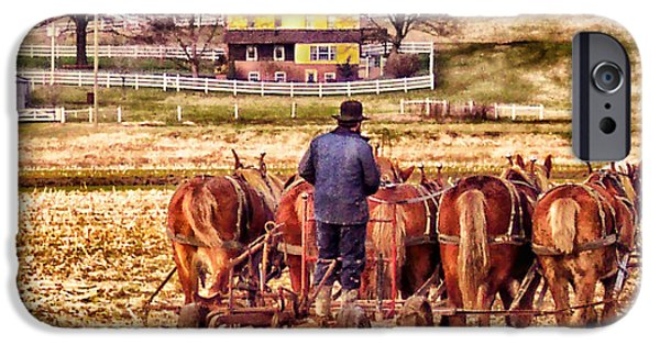 Amish Photographs iPhone Cases - The Plow iPhone Case by B Wayne Mullins