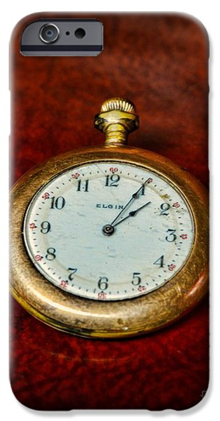 Chronometer iPhone Cases - The Pocket Watch iPhone Case by Paul Ward