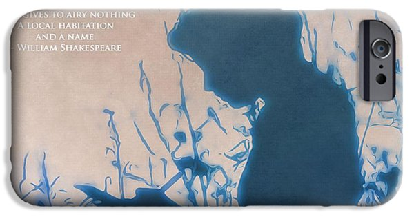 Innocence Mixed Media iPhone Cases - The Poet iPhone Case by Dan Sproul
