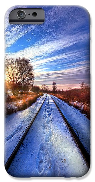 Crops iPhone Cases - The Polar Bear Express iPhone Case by Phil Koch