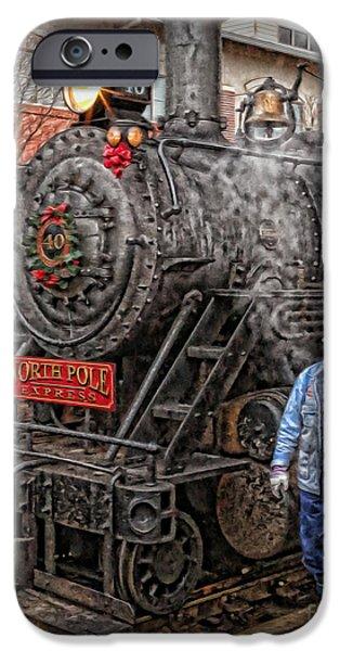 Saint Hope iPhone Cases - The Polar Express - Steam Locomotive VI iPhone Case by Lee Dos Santos