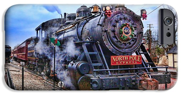 Saint Hope iPhone Cases - The Polar Express - Steam Locomotive II iPhone Case by Lee Dos Santos