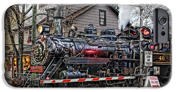 Saint Hope iPhone Cases - The Polar Express - Steam Locomotive III iPhone Case by Lee Dos Santos