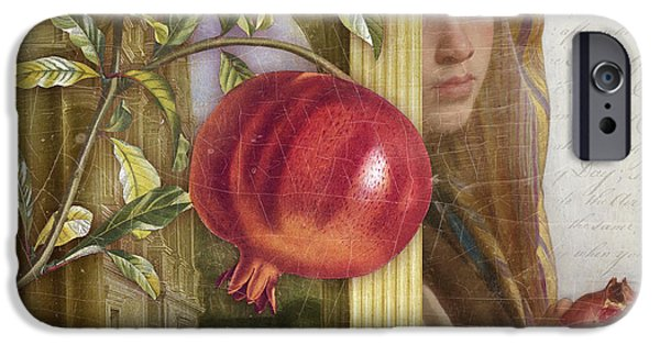 Antiques iPhone Cases - The Pomegrannte Eater iPhone Case by Aimee Stewart