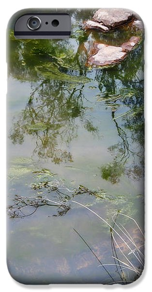The pond at the top of the falls iPhone Case by Linda Lees