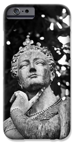 Statue Portrait iPhone Cases - The Ponderer iPhone Case by Chris Whittle