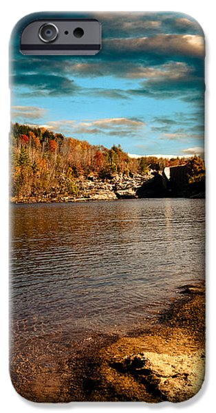 The Pool Below Upper Falls Rumford Maine iPhone Case by Bob Orsillo