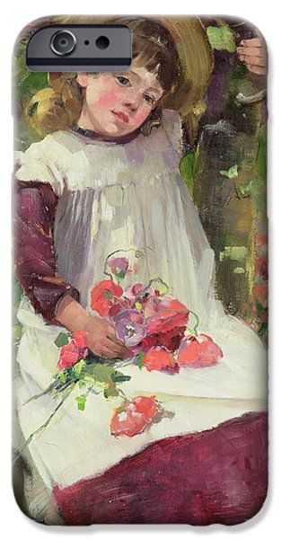 Recently Sold -  - Child iPhone Cases - The Poppy Gatherer iPhone Case by David Fulton