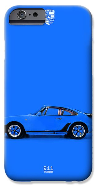 Turbo iPhone Cases - The Porsche 911 Turbo iPhone Case by Mark Rogan