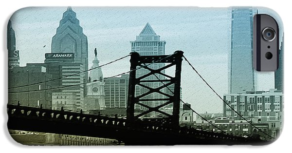 Franklin iPhone Cases - The Port of Philadelphia iPhone Case by Bill Cannon